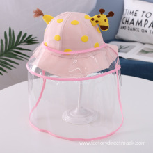 Pink Giraffe Anti-droplet Hat for Children